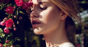 Tiera Dyck is a Flower Girl for Elle China August 2012, Lensed by Michelle Du Xuan