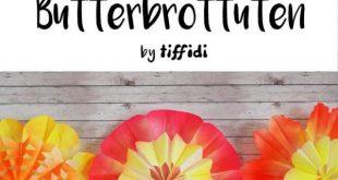 Anleitung Blumen aus Butterbrottüten | tiffidi – Nähen – Familie – DIY