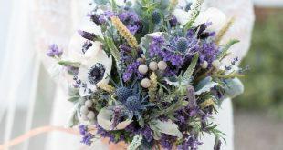 Copper Dusky Lilac & Grey Rustic Barn Wedding