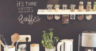 DIY wohnen: Tafelwand für die Küche mit Tafelfolie