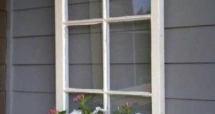 Holzfenster Blumenkasten – Fensterrahmen – antike Holzfenster – 6 Scheiben Holzfensterscheibe – Holzblumenkasten Ideen – Holzfenster Ideen – f – 2019
