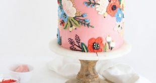 """Sugar & Sparrow auf Instagram: """"Ein Kuchen von Rifle Paper Co. zum Geburtstag ..."""