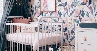 Abnehmbare Tapete, Kinderzimmer-Wand-Dekor, Kinderzimmer Tapete, Tapete, Schäl- und Stick-Tapete, Baby-Mädchen-Kinderzimmer rosa Kinderzimmer Wandaufkleber