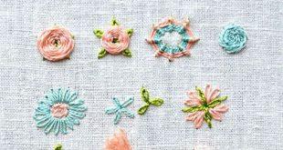Blumen sticken - 16 Tutorials zum sticken lernen