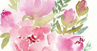 Custom Watercolor Blumenmalerei für Hannah, reservierte Auflistung