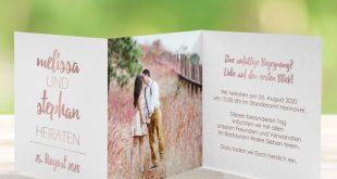 Einladungskarte Hochzeit Forever Love