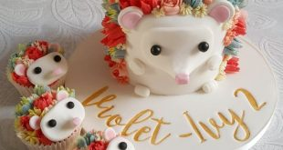 Flower Hedgehog Cupcake Tutorial - Kleine Pfirsich-Bäckerei #backerei #cupcake ...