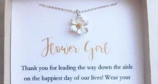 Flower girl necklace, toddler flower girl set, personalized flower girl gift, flower girl jewelry, little girl necklace, child jew