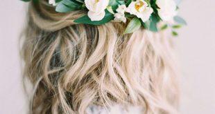 Frische Hochzeit Hair Down mit Blumen