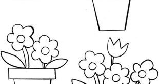 How to Draw a Pot & Flowers (Spring) - free sample page from Dover Publications...
