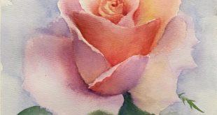 Nichts besser als eine Rose, wenn Sie Eleganz auch beim Malen schaffen möchten.
