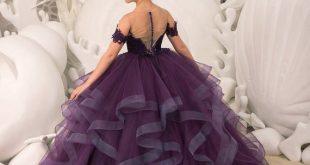 Purple Flower Girl Dress - Birthday Wedding party Bridesmaid Holiday Purple Lace Flower Girl Dress 21-099