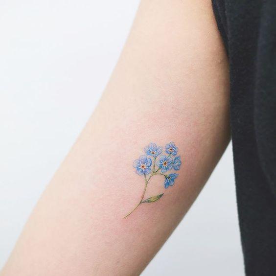 Vergiss mich nicht Tattoo Bedeutung und die schönsten