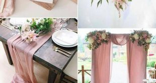 dusty rose pink and green romantic wedding color inspiration