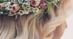 flower wedding crown